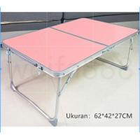 Meja Lipat Aluminium Laptop / Meja Belajar / Meja Sekolah