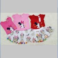 Baju Setelan Rok Anak Bayi Perempuan Dress Bayi Minnie Tutu Ball