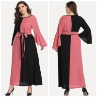 Hijab Ellysha FIRSYA EXCLUSIVE TWOTONE STYLE DRESS