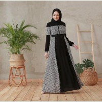 Hijab Ellysha TYNNA EXCLUSIVE TWOTONE DRESS