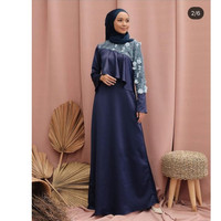 Hijab Ellysha EMILY EXCLUSIVE TILE RUFFLE DRESS