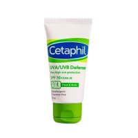 Cetaphil UVA/UVB Defense SPF 50+ Daily Facial Moisturiser Tube 50 Ml