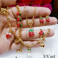 xuping set perhiasan anak lapis emas 9g08