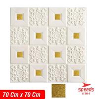 Wallpaper dinding 70x70xm 5mm 3D Foam Stiker Peredam udara 205-02