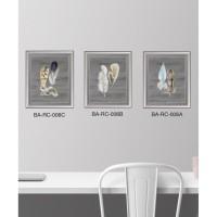 Scandinavian Art Prints Framed - Lukisan Dekorasi Bulu (feathers seri)