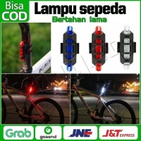 Lampu Belakang Sepeda LED Tail Light Rechargeable Micro USB