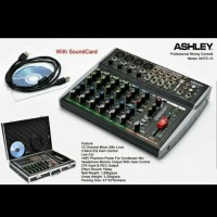 MIXER AUDIO ASHLEY NOTE12/NOTE 12 12CH WITH SOUNDCARD FREE KOPER