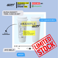 [PREORDER DESIGN GOT7] [REUSABLE CUP] TWITTER @RYUCUPS (ADA ITZY TWICE