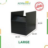 KARDUS PLASTIK ALVAboard, KOTAK PENGIRIMAN, BOX PINDAHAN 60X40X30 CM - Hitam