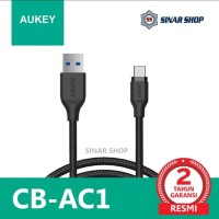Aukey CB-AC1 Braided Nylon USB 3.1 To USB-C Charger & Sync Cable 1.2M