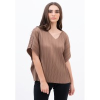 Pleats Blouse Choco