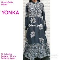 Gamis batik longdress jumbo adem murah bumil busui santai YONKA