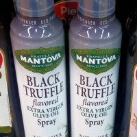 Mantova Black Truffle flavored spray extra virgin olive oil 227ml can