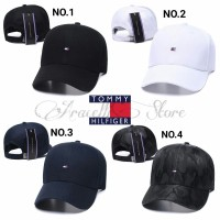 Topi Baseball Caps Tommy Logo Simple Polos Elegan Untuk Pria Wanita