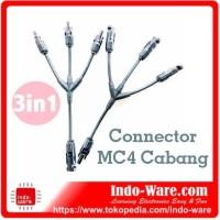 MC4 Connector MC4 3in1 Panel Surya tipe Y MC4 Cabang 3