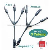 Kabel Konektor MC4 Cabang 3 sepasang connector male female