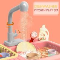 Mainan Dishwasher Electric Playset / Mainan Cuci Piring Anak Anak