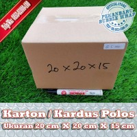KARDUS BARU POLOS DI PEKANBARU   20x20x15cm