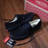 Sepatu vans authentic full black waffle DT premium
