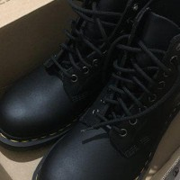 Sale Dr Martens 1460 Black 8 Eye Boot Leather Shoes Terbagus