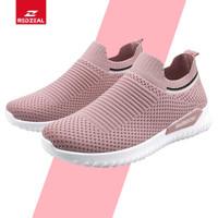 Redzeal Sepatu Slip On Wanita Y-2 Anti Slip On Import - Merah Muda, 37