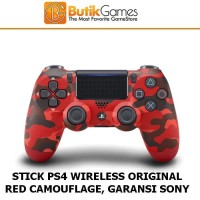 Stick PS4 Stik PS4 DUALSHOCK 4 Wireless Controller Red Camouflage