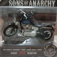 Diecast Motor HD Sons Of Anarchy Dyna Super Glide Sport Maisto 1:18