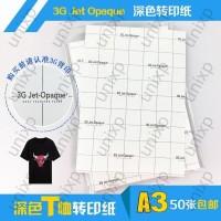 T-Shirt Kertas Transfer Paper Dark Kaos Gelap 3G Jet Opaque USA - A3
