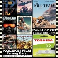 FLASHDISK TOSHIBA 32GB + KOLEKSI FILM PERANG BARAAT + OTG
