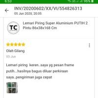 Lemari Piring Super Aluminium PUTIH 2 Pintu 86x38x168 Cm
