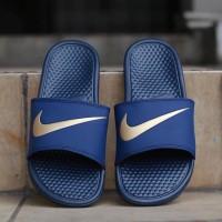 Nike Sandal Benassi Navy Gold Original