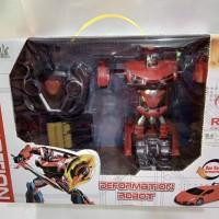 Mainan RC Drift Mobil Robot Remot Control Drift Deformation Robot - Merah