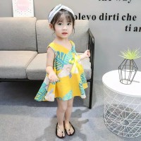 dress anak perempuan / lowie yellow dress
