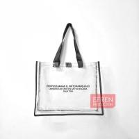 Custom Tas Mika transparan 40x30x10 cm 050 dengan sablon Tas Souvenir
