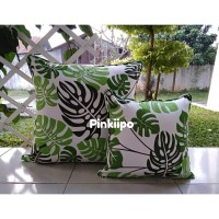 PINKIIPO - Sarung Bantal Sofa 60x60 [Green Monstera]