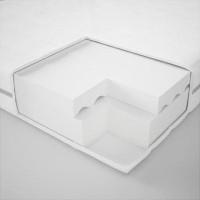 IKEA MALFORS Kasur busa, keras/putih 90x200 cm Original