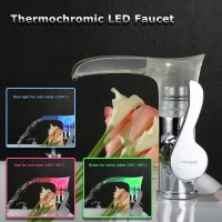 Peralatan Rumah : Homgeek Kran Air Mixer Tap Termokromik LED Single