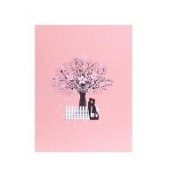 Kartu Ucapan Pop Up 3D Gambar Bunga Sakura untuk Ulang Tahun / Natal