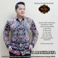Manikmaya Abu Kemeja Batik Pria Panjang Full Furing by Dewo