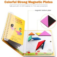 360 Questions Travel Tangram Puzzle Magnetic Pattern Block Book Road