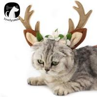 Bando Aksen Tanduk Rusa Kucing untuk Dekorasi Natal