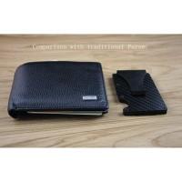 Metal Card Holder Carbon Fiber Black Silver Credit Card ID Holder