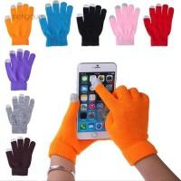 Meng Sarung Tangan Touch Screen Pria / Wanita Hangat Lembut untuk