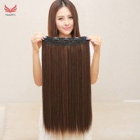 Extra Thick Clip In Heat Resistant Fibre Hair Extensions Full Head