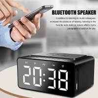 AEC BT508 - Bluetooth Speaker LED Alarm Clock with Wireless Charger