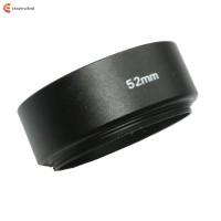Penutup Lensa Kamera Logam Standar Universal 52mm Warna Hitam untuk