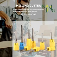 Nanjing-◈Double-edged Straight Slot Milling Cutter Router Bit CNC