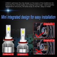 Lampu Kabut Mobil C6 Max Mini H8 H9 H11 72W 8000LM 6000K