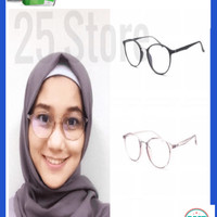 Frame Kacamata Bulat Lentur Optica 168 Oval Bisa Pasang Lensa Minus