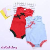 Toddler Baby Chinese Style Cheongsam Cotton Sleeveless Jumper
